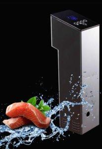 ZeroPak Sous Vide Water Circulator and Salmon