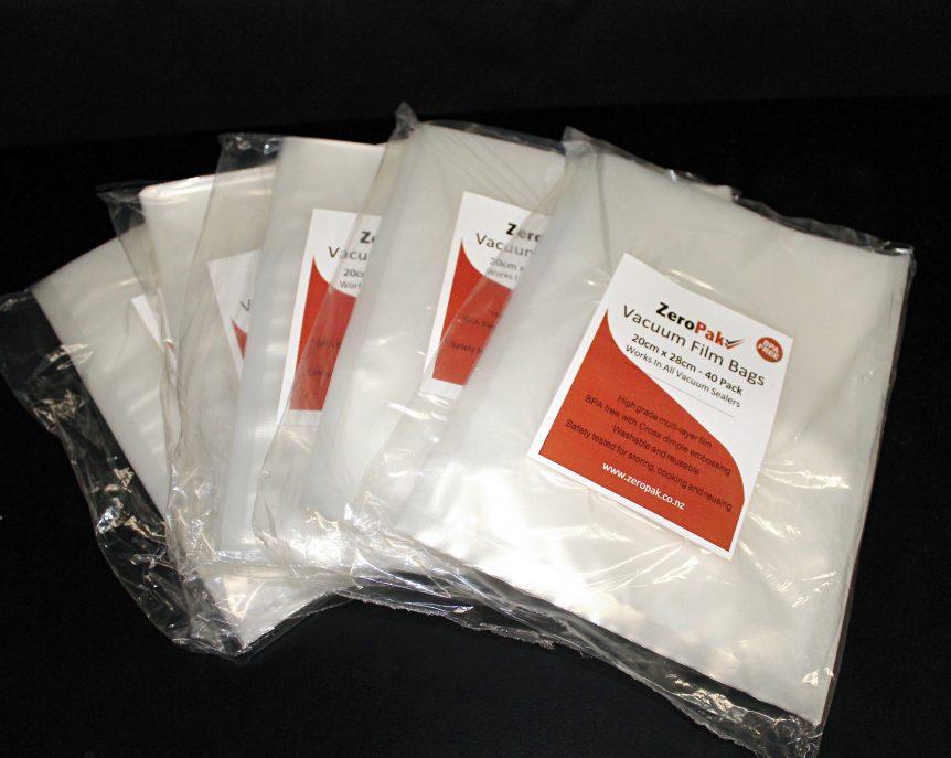 zeropak 20cm bags 5 packs