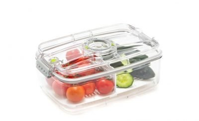 ZeroPak 3 Litre Vacuum Container/Canister with divider tray
