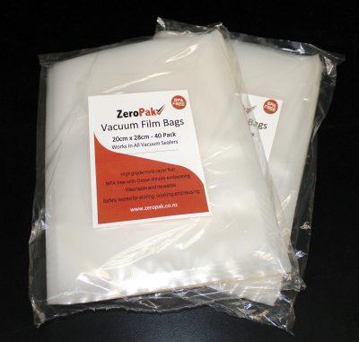 zeropak 20cm x 28cm bags 2 packs