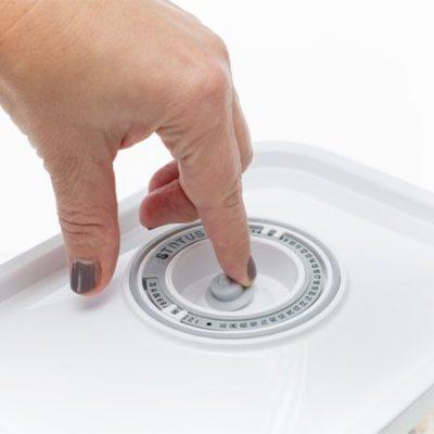 ZeroPak glass vacuum container lid