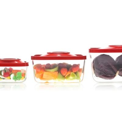 ZeroPak glass vacuum containers