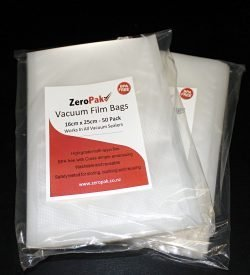 zeropak 16cm x 25cm bags 2 packs