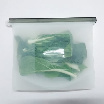 ZeroPak silicone food bag clear veges back