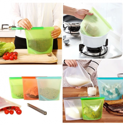 ZeroPak Silicone Food Bag Uses