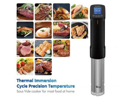 ZeroPak Inkbird wifi sous vide cooker plus food