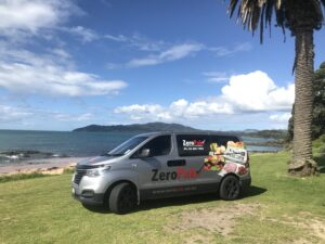 ZeroPak Van at Cable Bay