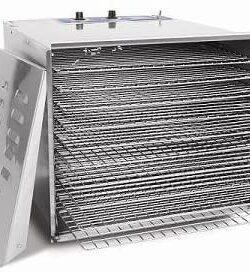 zeropak hakka food dehydrator 10 tray open