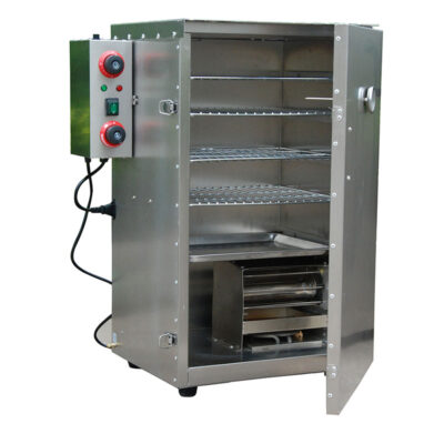 Zeropak Hakka Electric Smoker 4 tray open