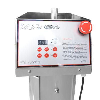 ZeroPak Hakka SEV10 Electric Sausage Filler Stuffer control panel